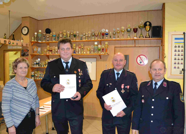 Ehrenmedalie vom Kreisfeuerwehrverband