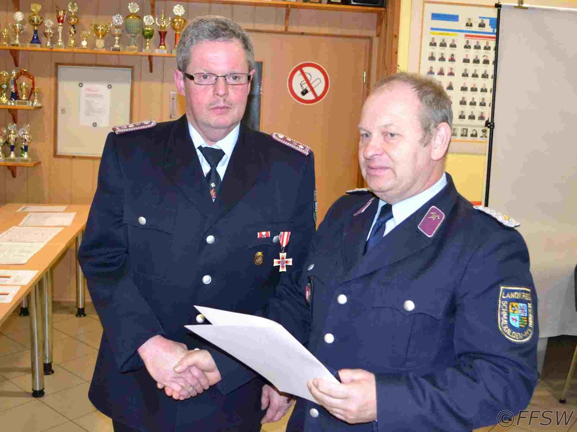 Ehrenmedalie vom Thüringer-Feuerwehrverband