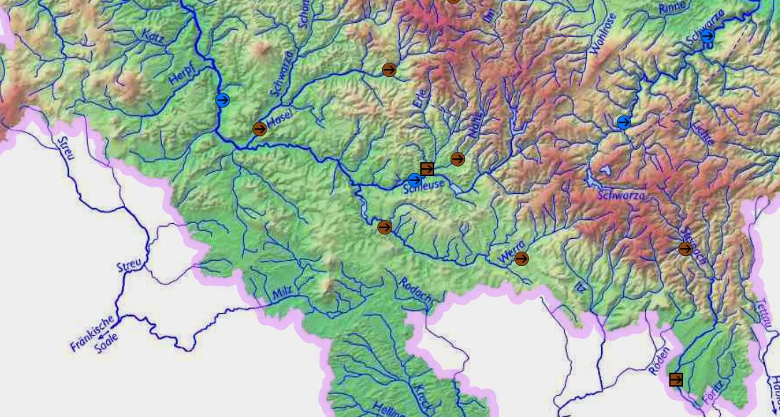 Gewässerkarte