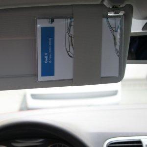 Rettungskarte im Fahrzeug